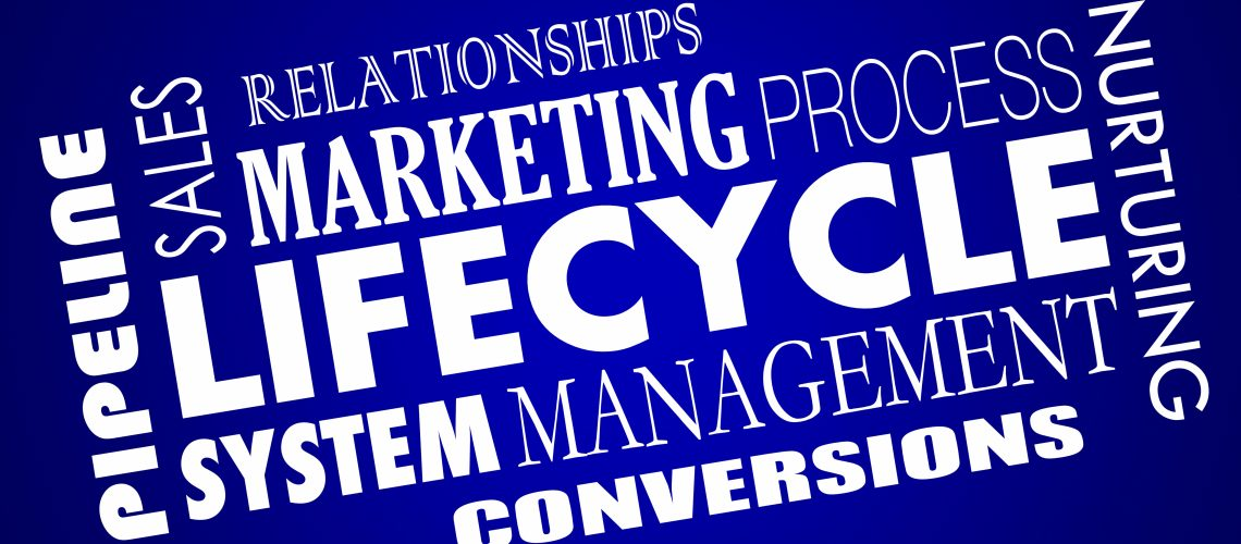 Lifecycle Marketing Sales Leads Management System 3d Illustration