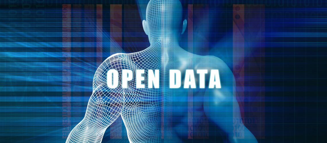 Open data as a Futuristic Concept Abstract Background